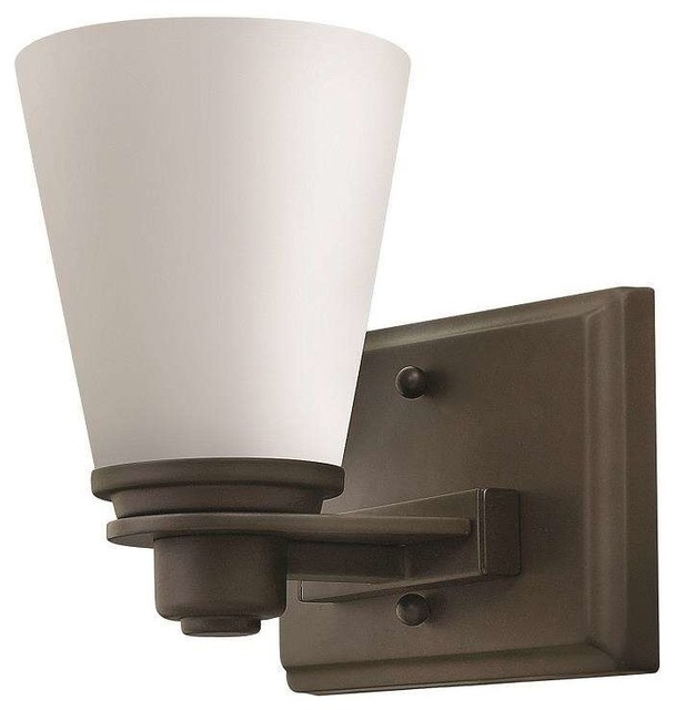 Hinkley Lighting 5550KZ, Avon Wall Sconce, Buckeye Bronze - Transitional - Bathroom Vanity ...