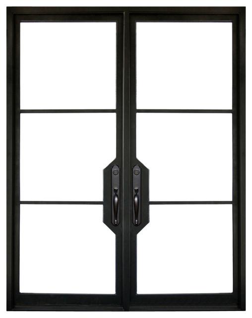Vision Steel 72x96 Wrought Iron Door 6 Jamb Transitional