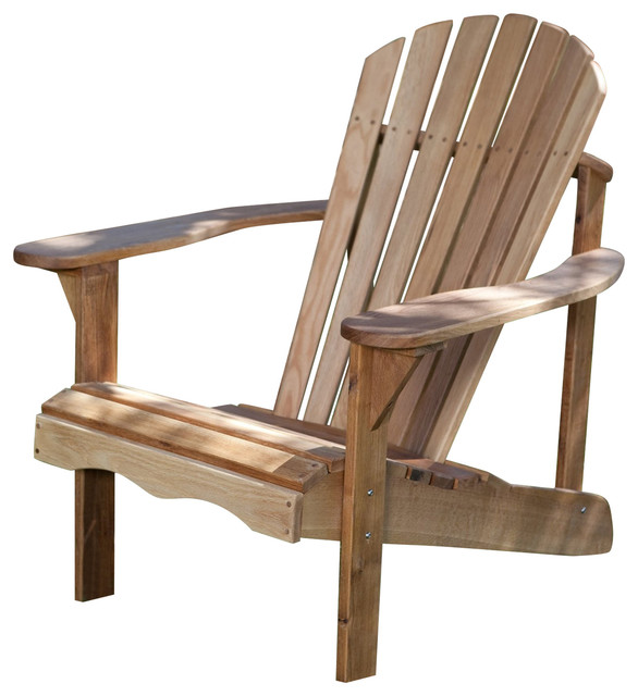 Beau Solid Oak Wood Adirondack Chair With Linseed Oil Finish