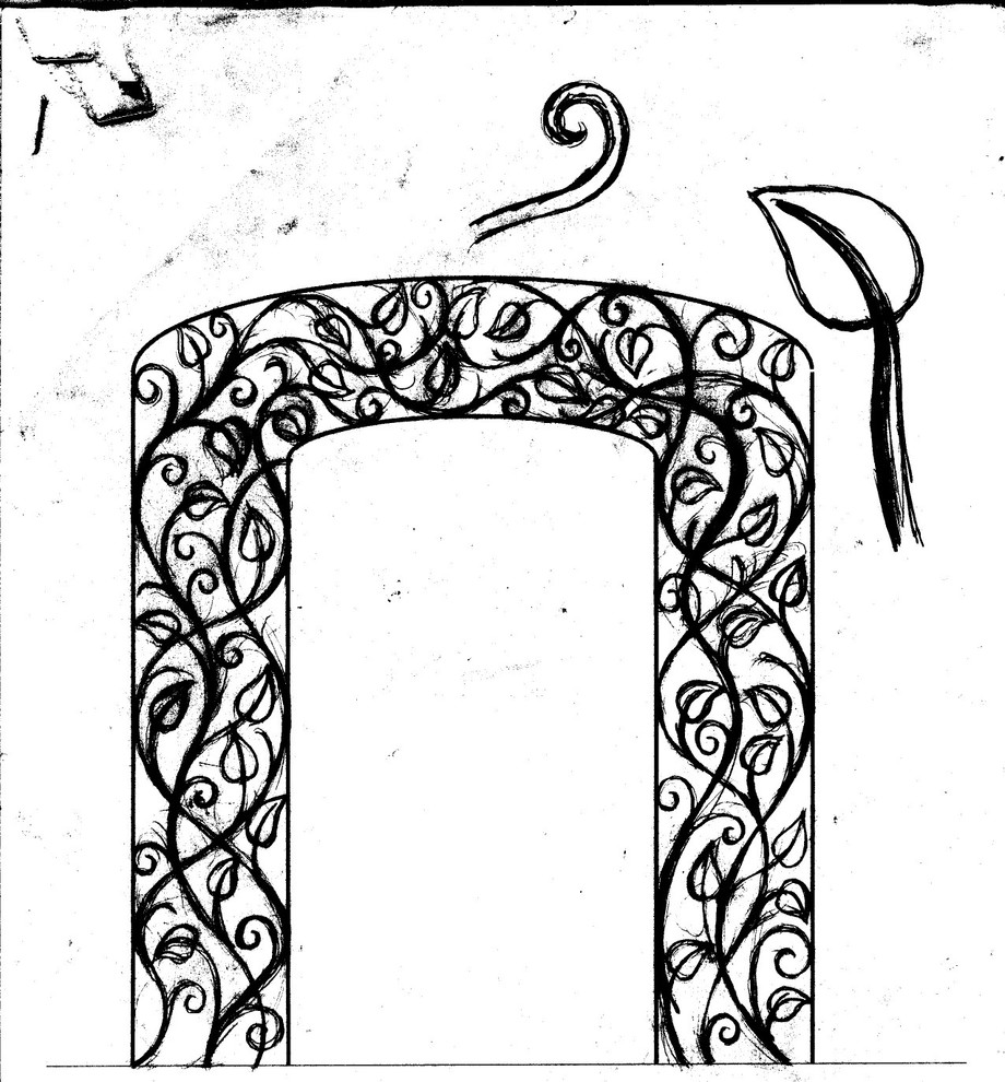 Custom Interior Door Arch Frame - Rough Sketch