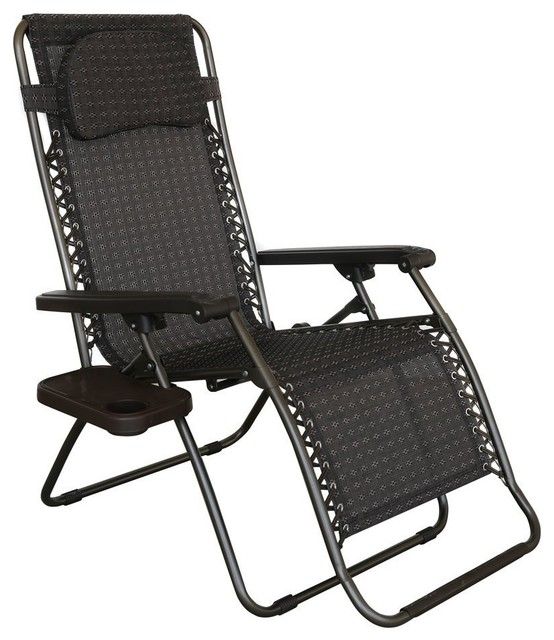 Abba patio oversized zero gravity recliner patio chair for Chaise zero gravite