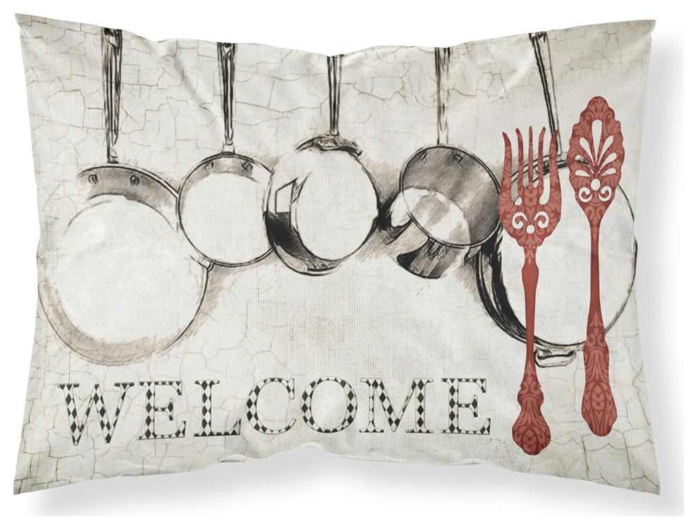 Pots And Pans Welcome Moisture Wicking Standard Pillowcase Large Contemporary Pillowcases And Shams By The Store