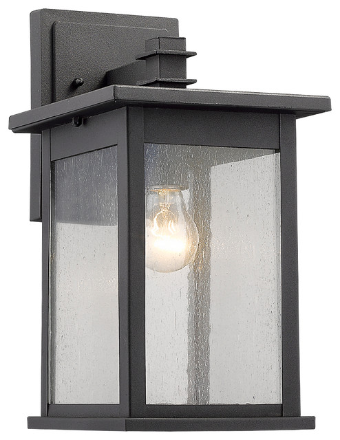 Tristan 1 Light Black Outdoor Wall Sconce 14 High Transitional Outdoor Wall