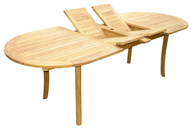 117 Quot Double Extension Oval Dining Outdoor Teak Outdoor