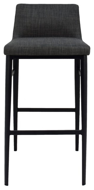 Awesome 17 5 W Boris Bar Stool Low Back Charcoal Upholstery Steel Legs 100 Polyester Lamtechconsult Wood Chair Design Ideas Lamtechconsultcom