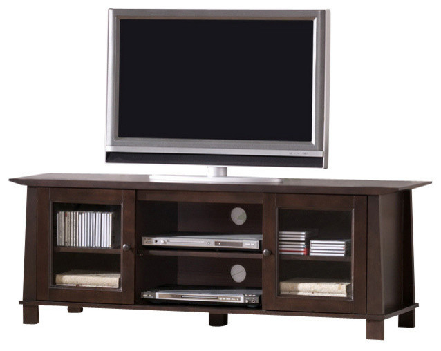 Baxton Studio Havana Brown Wood Modern Tv Stand Craftsman