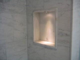 Lighted Tub Shower Niche