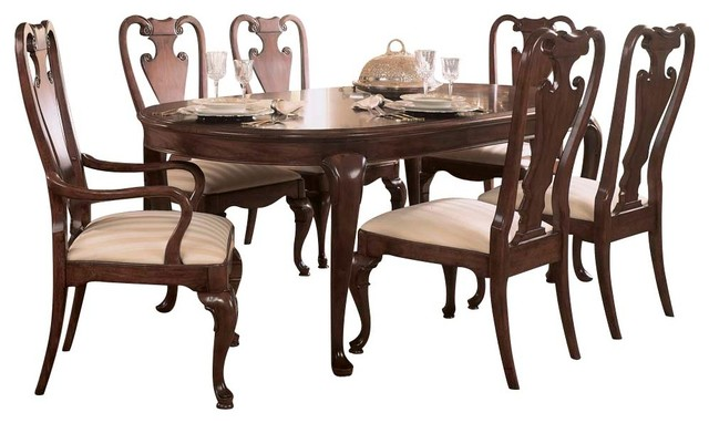 American Drew Cherry Grove 7-Piece Leg Dining Room Set, Antique Cherry