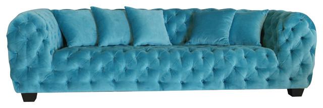 Casa Milano Collection Velvet Tufted Sofa.