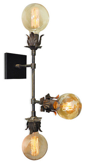 industrial chic lighting. Aramis Triple Light Wall Sconce, Industrial Chic Lighting Industrial Chic Lighting H