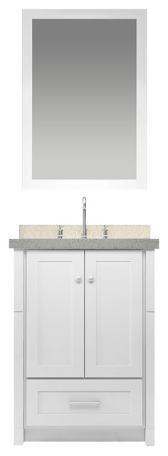 Adams Vanity Set, White.
