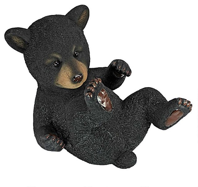 Marvelous Roly Poly Bear Cub Statues: Rolling Bear Traditional Garden Statues And