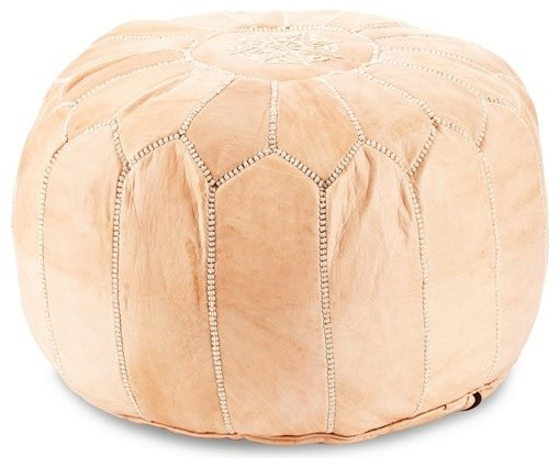Stuffed Moroccan Leather Pouf Mediterranean Floor Pillows And Fascinating How To Stuff A Moroccan Pouf