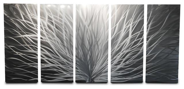 Metal Wall Art Decor Abstract Contemporary Modern Sculpture Radiance ...