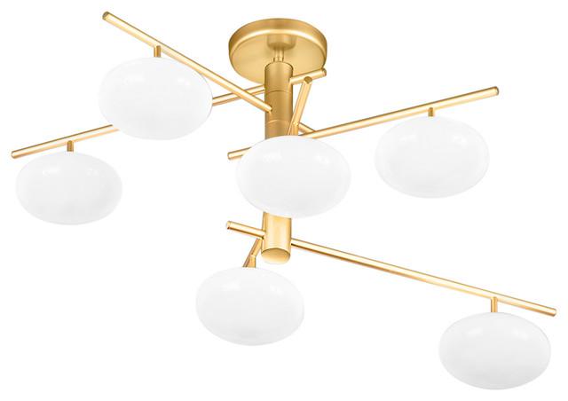 Metal Lux Dolce Gold 6-Light Chandelier