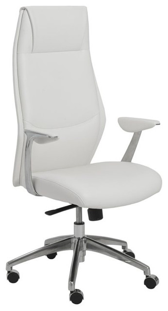 Eurostyle Crosby High Back Office Chair In White.