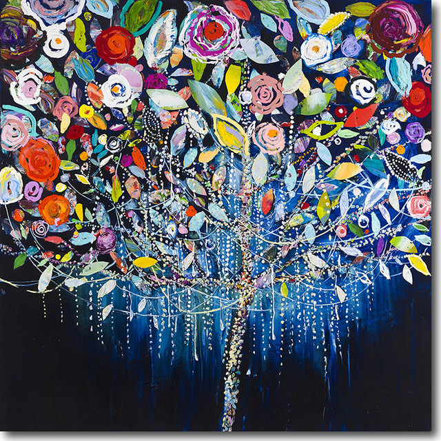 """tree Of Lights"" Artwork By Starla Michelle Halfmann, 30""x30""."