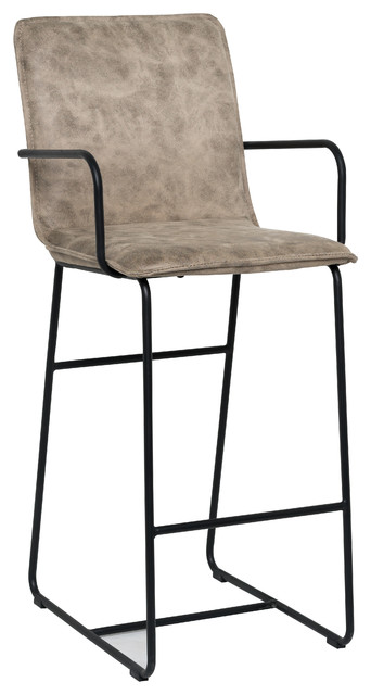 Kosas Home Walter Taupe Leather 30  Barstool Barstool industrial-bar-stools -  sc 1 st  Houzz & Kosas Home Walter Taupe Leather 30