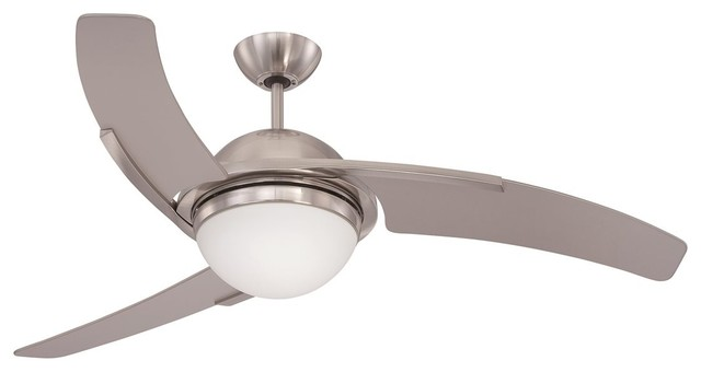 "Craftmade 54"" Juna Ceiling Fan, Brushed Polished Nickel."