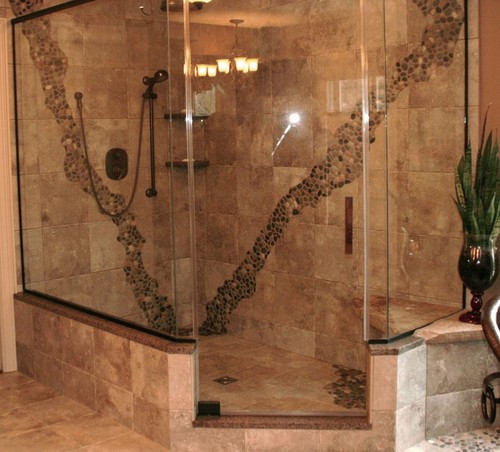 What is width of the opening to shower? Step up & knee wall Height?