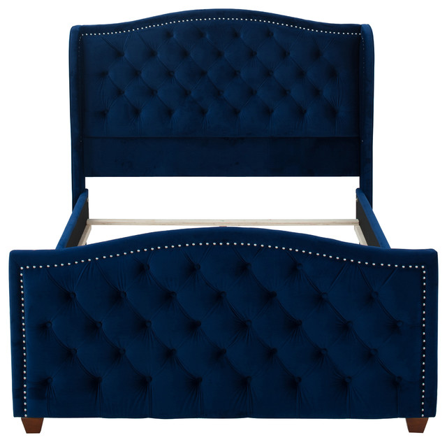 Marcella Upholstered Bed Modern Panel Beds By
