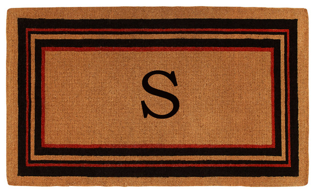 Esquire Monogram Doormat, Extra-Thick 3'x6', Letter S by Home & More