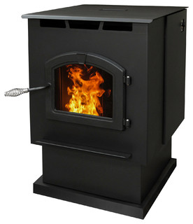 Large Pellet Burning Stove With Led Comfort Control System Traditional Freestanding Stoves
