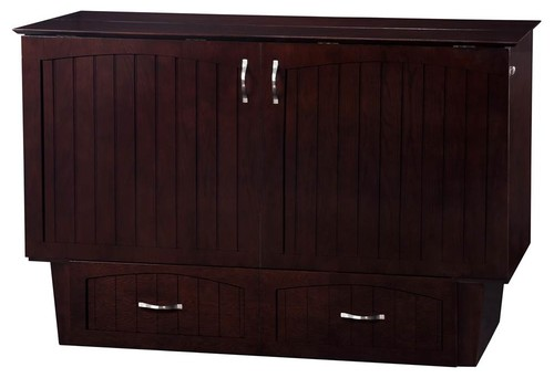 Queen Murphy Bed Chest in Espresso Finish