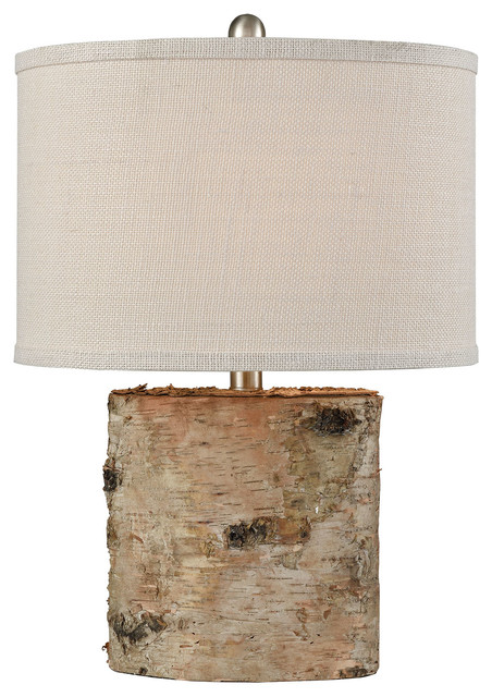 Pomeroy Barkwell Oval Lamp In Natural And Cream 981722