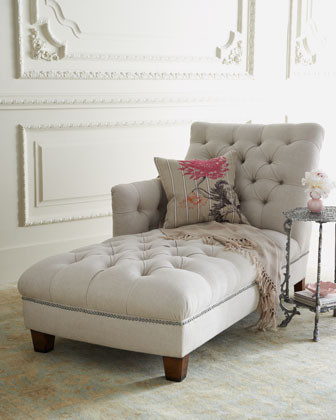 Maddox Tufted Chaise traditional day beds and chaises