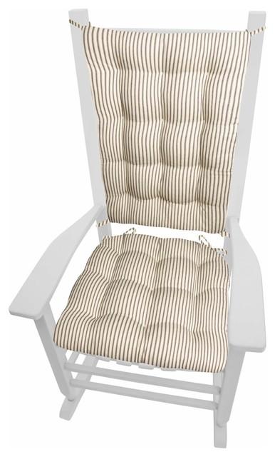 Ticking Stripe Black Rocking Chair