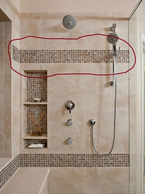 Accent Shower Strip Height