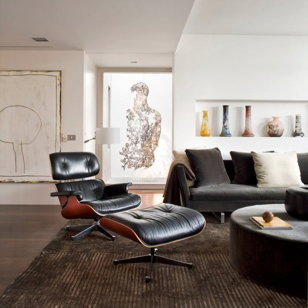 Eames Style Lounge Chair and Ottoman by Rove Concepts - Midcentury ...
