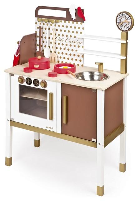 Maxi cuisine maxi cuisine chic en bois et ses 8 for Cuisine enfant bois janod