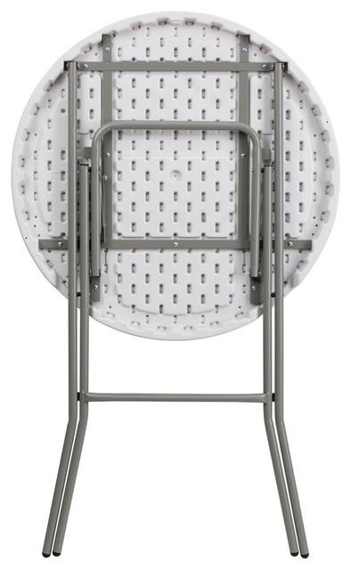 Astonishing Flash Furniture 32 Round Granite White Plastic Bar Height Folding Table Onthecornerstone Fun Painted Chair Ideas Images Onthecornerstoneorg