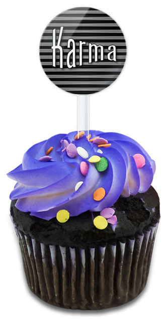 Karma Your Fate And Destiny Cupcake Toppers Picks Set.