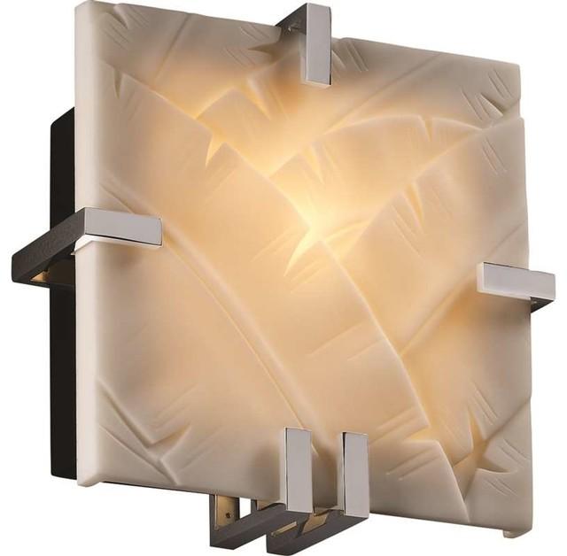 Wall Sconces Tropical : Justice Design PNA-5550-BANL-CROM Porcelina Sconce, Polished Chrome - Tropical - Wall Sconces ...