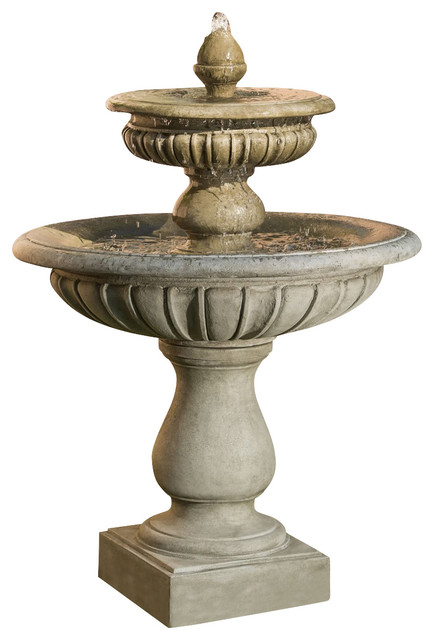 longvue outdoor water fountain aged limestone andponds