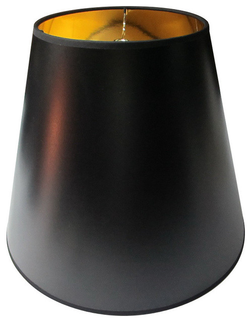 Black parchment gold lined floor lampshade traditional lamp black parchment gold lined floor lampshade aloadofball Images