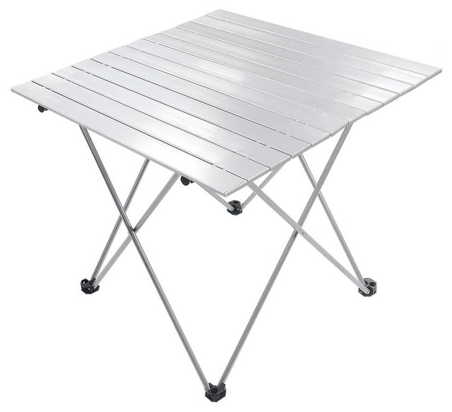 Folding Aluminum Roll Up Table With Heavy Duty Bag.