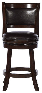 Strange Augusta Swivel Stool Cappuccino With Dark Brown Upholstery 24 Gmtry Best Dining Table And Chair Ideas Images Gmtryco