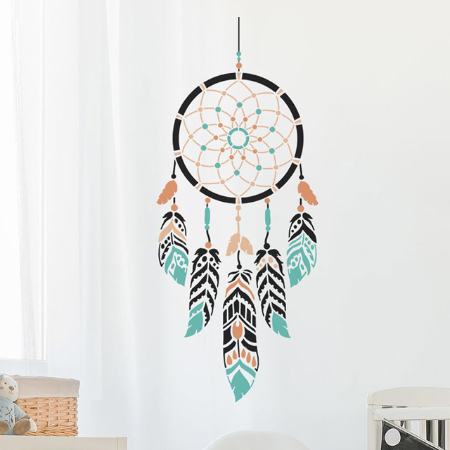 Dream catcher wall art stencil trendy easy stencils for Dream catcher spray painting