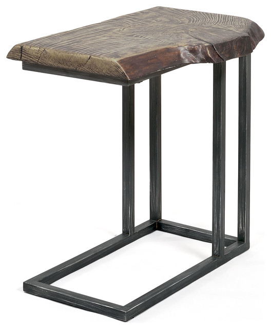 Lake Oroville Rustic Natural Stone Finish Living Room Side Table  Rustic Side Tables