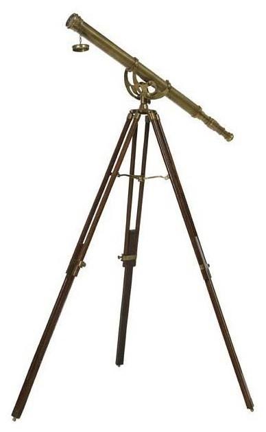 """Antique Brass Telescope   Eichholtz Bicton, brass, 40""""Wx40""""Dx62""""H"""