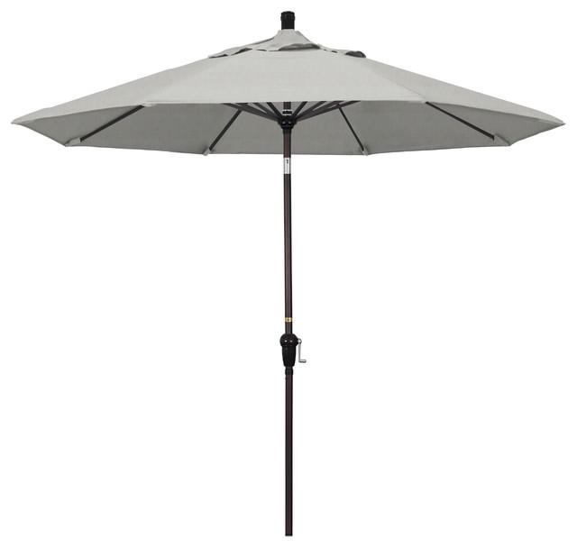 9 Aluminum Umbrella Auto Tilt Bronze