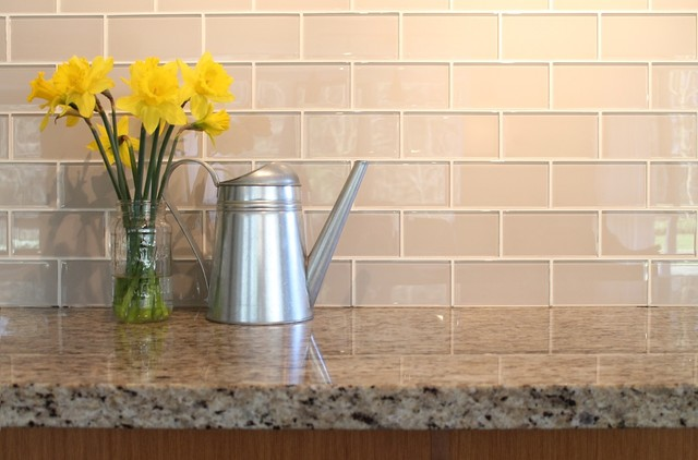 Light Gray 2x12 Hand Painted Subway Glass Tile Kitchen for  backsplash/bathroom