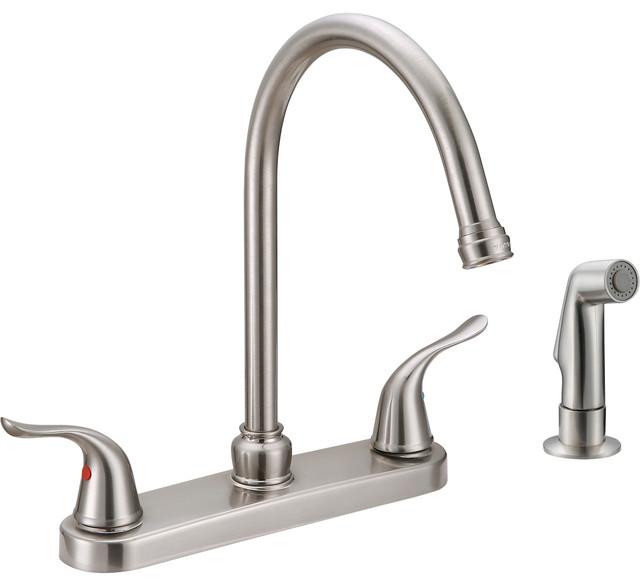 ez flo two handle kitchen faucet kitchen faucets houzz contemporary kitchen faucets find kitchen sink faucets online