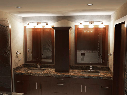 I Cant Decide Which Lights To Put Over My Double Sink Vanities - Bathroom over sink light fixtures