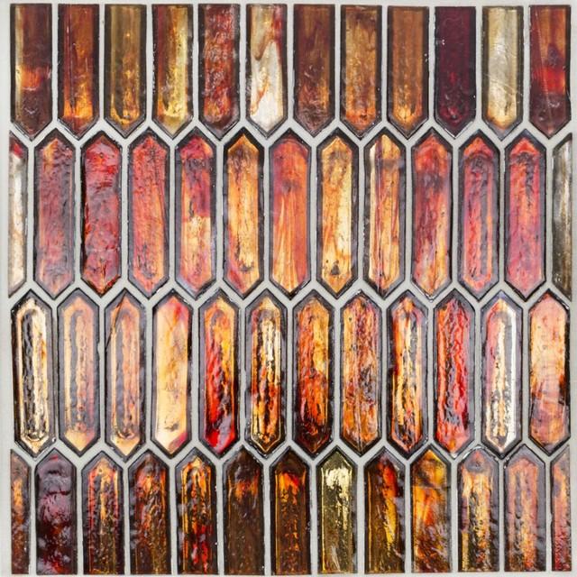 Komorebi Bonfire Glass Tile