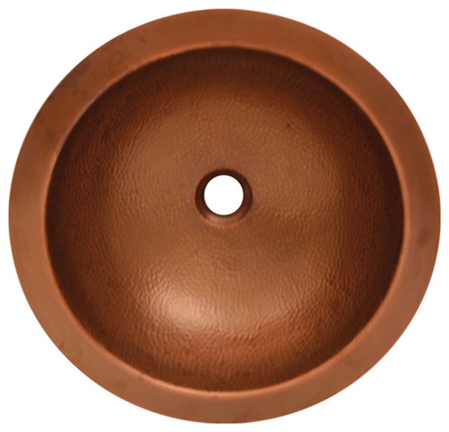 copperhaus round undermount sink hammered bronze